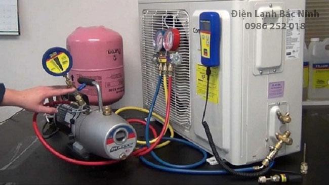 quy trình nạp gas điều hòa
