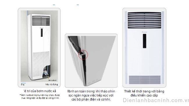 ưu điểm điều hòa tủ đứng daikin một chiều skyair 28000 BTU